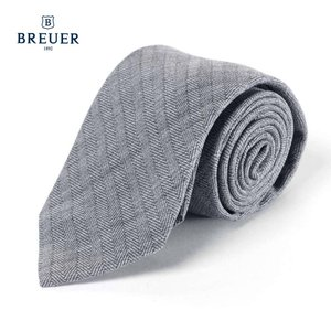 BREUER ブリューワー シルク ネクタイ チェック イタリア製 277-88053 グレー 国内正規品|up-avanti