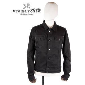 tramarossa トラマロッサ デニムジャケット スリム ブラック Gジャン 414-10012002 国内正規品|up-avanti