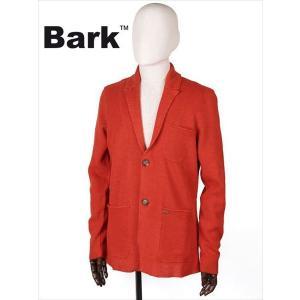 BARK バーク 2B シングルテーラードジャケット オレンジ 474-60410001 リネン ニット メンズ 国内正規品 up-avanti