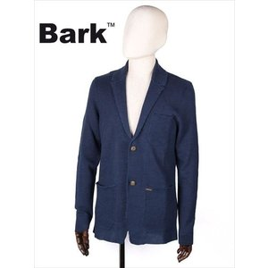 BARK バーク 2B シングルテーラードジャケット ネイビー 474-60410001 リネン ニット メンズ 国内正規品 up-avanti