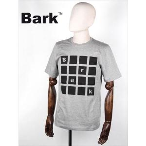 BARK バーク 半袖カットソー Tシャツ グレー 474-62641002 ロゴプリント 国内正規品 up-avanti