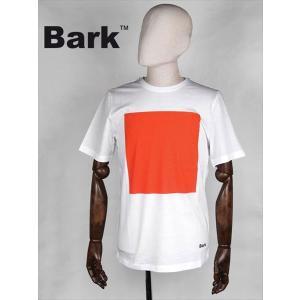 BARK バーク 半袖カットソー ホワイト Tシャツ 474-62641005 スクエアプリント 四角 国内正規品 up-avanti