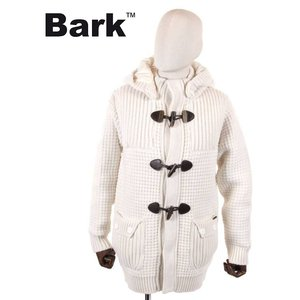 BARK バーク ダッフルコート ニット 474-70101001 ホワイト 国内正規品 up-avanti