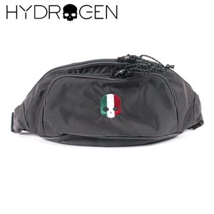 HYDROGEN BAG ハイドロゲンバッグ スカル刺繍 イタリア ロゴ ウエストポーチ 482-30080024 グレー 国内正規品 up-avanti