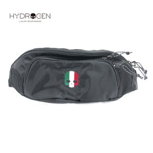 HYDROGEN BAG ハイドロゲンバッグ スカル刺繍 ウエストポーチ 482-30080024 ブラック 国内正規品 up-avanti