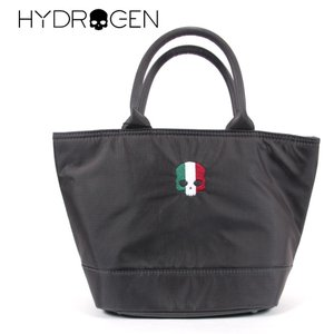 HYDROGEN BAG ハイドロゲンバッグ スカル刺繍 イタリア ロゴ ファスナーつき ミニトートバッグ 482-30089021 グレー 国内正規品 up-avanti