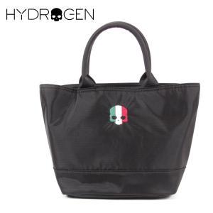 HYDROGEN BAG ハイドロゲンバッグ スカル刺繍 イタリア ロゴ ファスナーつき ミニトートバッグ 482-30089021 ブラック 国内正規品 up-avanti