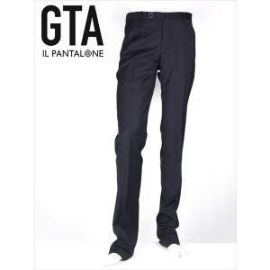 GTA ジーティーアー ウールスラックス パンツ ノータック ネイビー 50230 国内正規品|up-avanti