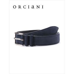 ORCIANI オルチアーニ スエードベルト 520 ネイビー 519-62281001 本革 国内正規品 up-avanti