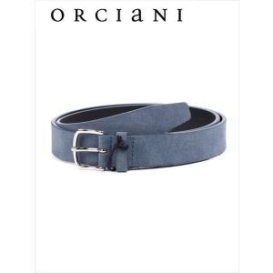 ORCIANI オルチアーニ スエードベルト 500 ネイビー 519-62281002 本革 国内正規品 up-avanti