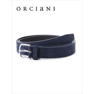 ORCIANI オルチアーニ スエードベルト 520 ダークネイビー 519-62281002 国内正規品 up-avanti