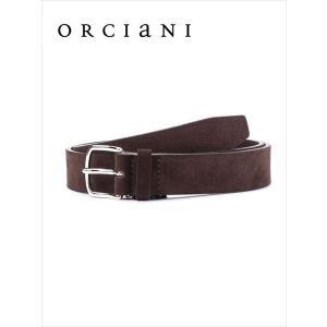 ORCIANI オルチアーニ スエードベルト 730 ブラウン 519-62281002 国内正規品 up-avanti
