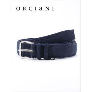 ORCIANI オルチアーニ スエード ベルト 520 ネイビー 519-62381001 レザー 国内正規品 up-avanti