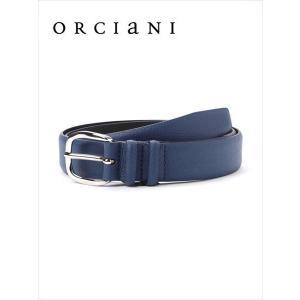 ORCIANI オルチアーニ レザーベルト シボ革 510 ネイビー 519-63181003 本革 国内正規品 up-avanti