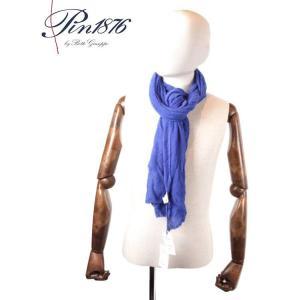 PIN1876 ピン1876 カシミアストール 5505F/201 BLUE ブルー 国内正規品|up-avanti