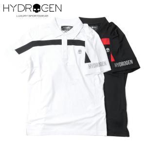 HYDROGEN GOLF ハイドロゲンゴルフ メンズ ショートスリーブ ポロシャツ ストレッチ バイカラー ボーダー 551-40240001 up-avanti