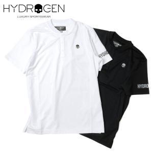 HYDROGEN GOLF ハイドロゲンゴルフ メンズ ショートスリーブ ヘンリーネック ポロシャツ ストレッチ 551-40340001 国内正規品 up-avanti