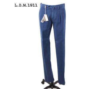 L.B.M1911 エルビーエム1911 チノパン スラックス ストレッチ スリムテーパード BLUE ブルー 国内正規品|up-avanti
