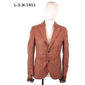 【国内正規品】L.B.M1911 エルビーエム1911 アクリルウール 2Bシングルテーラードジャケット織柄 9201A28655191 BROWN ブラウン|up-avanti