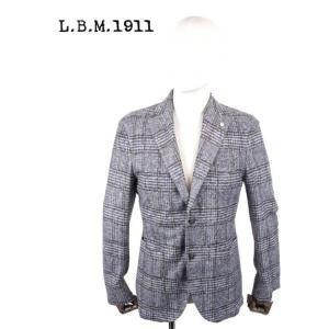 L.B.M.1911 エルビーエム1911 ウール 2Bシングルテーラードジャケット チェック柄9201A28655192 ネイビー グレー LBM 1911 国内正規品|up-avanti