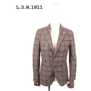 L.B.M.1911 エルビーエム1911 ウール 2Bシングルジャケット チェック柄 9201A28655247 茶系 ブラウン LBM 1911 国内正規品|up-avanti