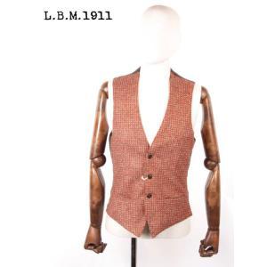 【国内正規品】L.B.M1911 エルビーエム1911 アクリルウール 3Bジレ ベスト 織柄 9201G14805191 BROWN ブラウン|up-avanti