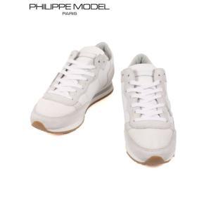 PHILIPPE MODEL フィリップモデル レザースニーカー メッシュ スエードコンビ 9215STROP50 WHITE ホワイト 国内正規品|up-avanti