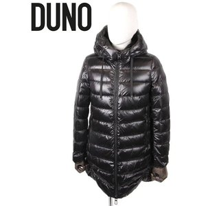 DUNO デュノ LADIES レディース ライトダウンコート セミロング 軽量 シンプル 92597CAP BLACK ブラック 国内正規品 up-avanti