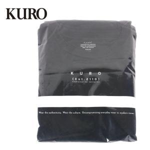 KURO クロ PACKED TENNESSE COTTON L/S TEE 長袖 カットソー 2枚入り テネシーコットン シンプル 無地 Tシャツ 963043 ブラック up-avanti