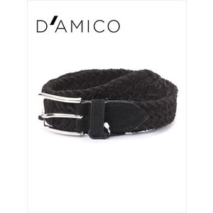 Andrea D'AMICO アンドレアダミコ CAMOX K2 スエードメッシュベルト 999ブラック イタリア製 DAMICO 国内正規品|up-avanti