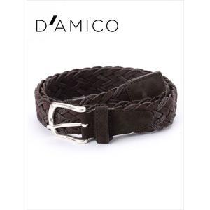 Andrea D'AMICO アンドレアダミコ INT-HONOLULU レザー×コットン スエードメッシュベルト 497 ブラウン / ACU2517 DAMICO 国内正規品|up-avanti