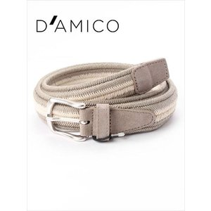 Andrea D'AMICO アンドレアダミコ ELAS BAHIA 編み込みベルト 226 ホワイト×グレー / ACU2518 DAMICO 国内正規品|up-avanti