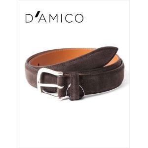 Andrea D'AMICO アンドレアダミコ CAMOX KALEIDO スエードベルト 497 ダークブラウン / ACUB003 DAMICO 国内正規品|up-avanti