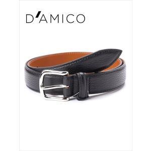 Andrea D'AMICO アンドレアダミコ STAMPA ALCE レザーベルト シボ革 999 ブラック / ACUB011 DAMICO 国内正規品|up-avanti