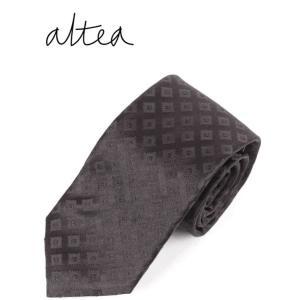 ALTEA アルテア ひし形 ネクタイ シルク AL192UA1921354 BLACK ブラック 国内正規品|up-avanti