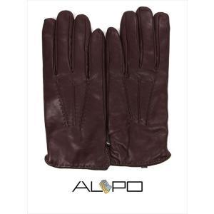 ALPO アルポ ラムレザーグローブ ダークブラウン 羊革 手袋 メンズ AP182UA NAPPA884 CONKER 国内正規品|up-avanti