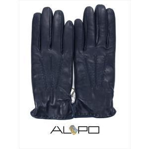 ALPO アルポ ラムレザーグローブ ネイビー 羊革 手袋 メンズ AP182UA NAPPA884 NAVY 国内正規品|up-avanti
