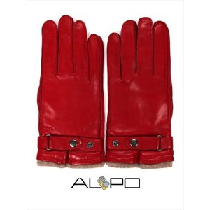 ALPO アルポ ラムレザーグローブ レッド 羊革 手袋 メンズ AP182UA NAPPA CINT RUBINO 国内正規品|up-avanti