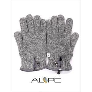 ALPO アルポ ウールニットグローブ グレー 手袋 メンズ AP182UA SPW91 765 国内正規品|up-avanti
