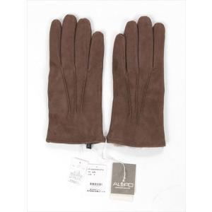ALPO アルポ スエードグローブ ブラウン 手袋 メンズ AP182UA SUEDE LAPIN TAUPE 裏地ラピッドファー 国内正規品|up-avanti