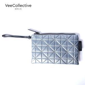 【30%OFFセール】 VeeCollective ヴィーコレクティブ キルティングポーチ ナイロン 310 メタリックシルバー AVE108200 国内正規品|up-avanti