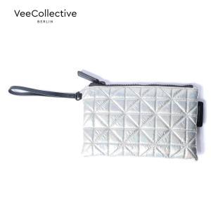 【30%OFFセール】 VeeCollective ヴィーコレクティブ キルティングポーチ ナイロン 316 メタリックシルバー AVE108200 国内正規品 up-avanti