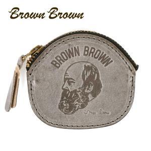BrownBrown ブラウンブラウン Mr.Brown コインケース 小銭入れ 本革 ワックスレザー クリスマススペシャル グレー bbl-20w2 up-avanti