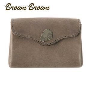BrownBrown ブラウンブラウン Mr.Brown アコーディオン コインケース カードルームつき 本革 ワックスレザー クリスマススペシャル グレー bbl-20w5 up-avanti
