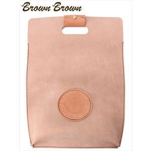 BrownBrown ブラウンブラウン COFFEE コーヒー ハンドルクラッチバッグ レザー BBL-719 ライトブラウン ブランドロゴパッチ トートバッグ 国内正規品 up-avanti