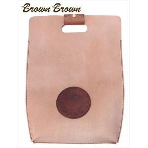 BrownBrown ブラウンブラウン COFFEE コーヒー ハンドルクラッチバッグ レザー BBL-719 ダークブラウン ブランドロゴパッチ トートバッグ 国内正規品 up-avanti