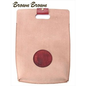 BrownBrown ブラウンブラウン COFFEE コーヒー ハンドルクラッチバッグ レザー BBL-719 レッド ブランドロゴパッチ トートバッグ 国内正規品 up-avanti