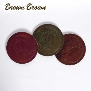 BrownBrown ブラウンブラウン Mr.Brown コースター おしゃれ レザー 本革 bbl-m02 国内正規品|up-avanti