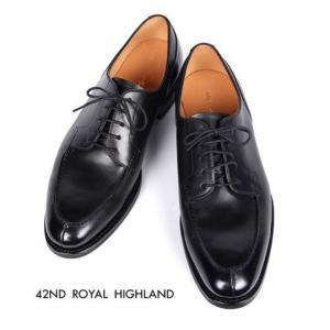 42ND ROYAL HIGHLAND フォーティーセカンドロイヤルハイランド Uチップ レザーシューズ ビジネスシューズ 5H 革靴 紳士靴 ブラック CH6401-01 国内正規品|up-avanti