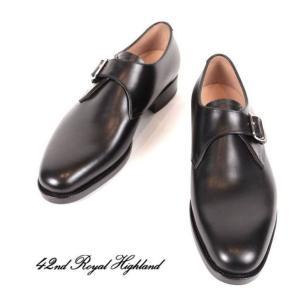42ND ROYAL HIGHLAND NAVY COLLECTION フォーティーセカンドロイヤルハイランド ネイビーコレクション モンクストラップ 紳士靴 革靴 CH9104FH-01 ブラック|up-avanti